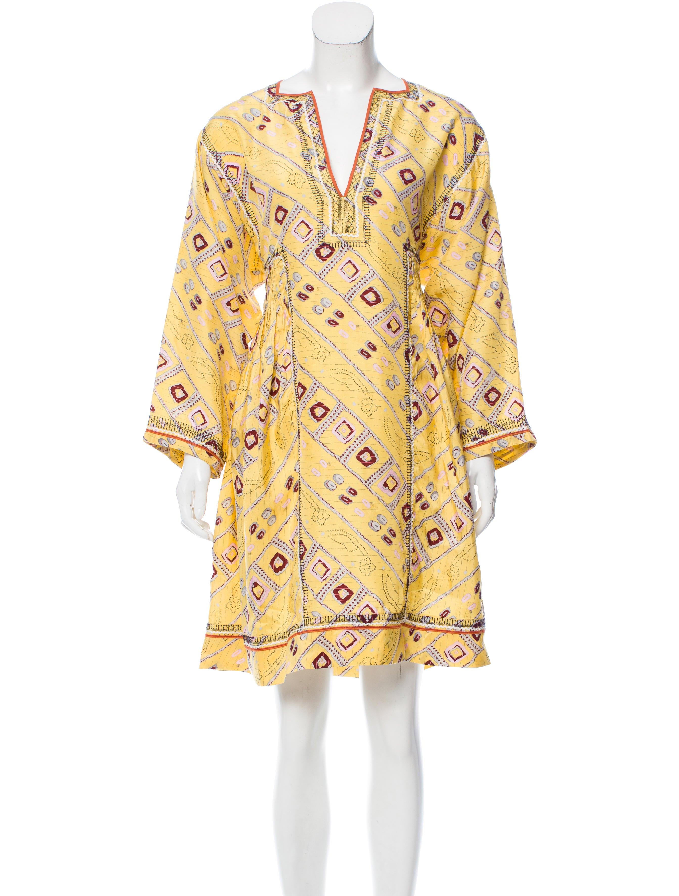 Isabel marant printed knee length dress clothing for Isabel marant shirt dress