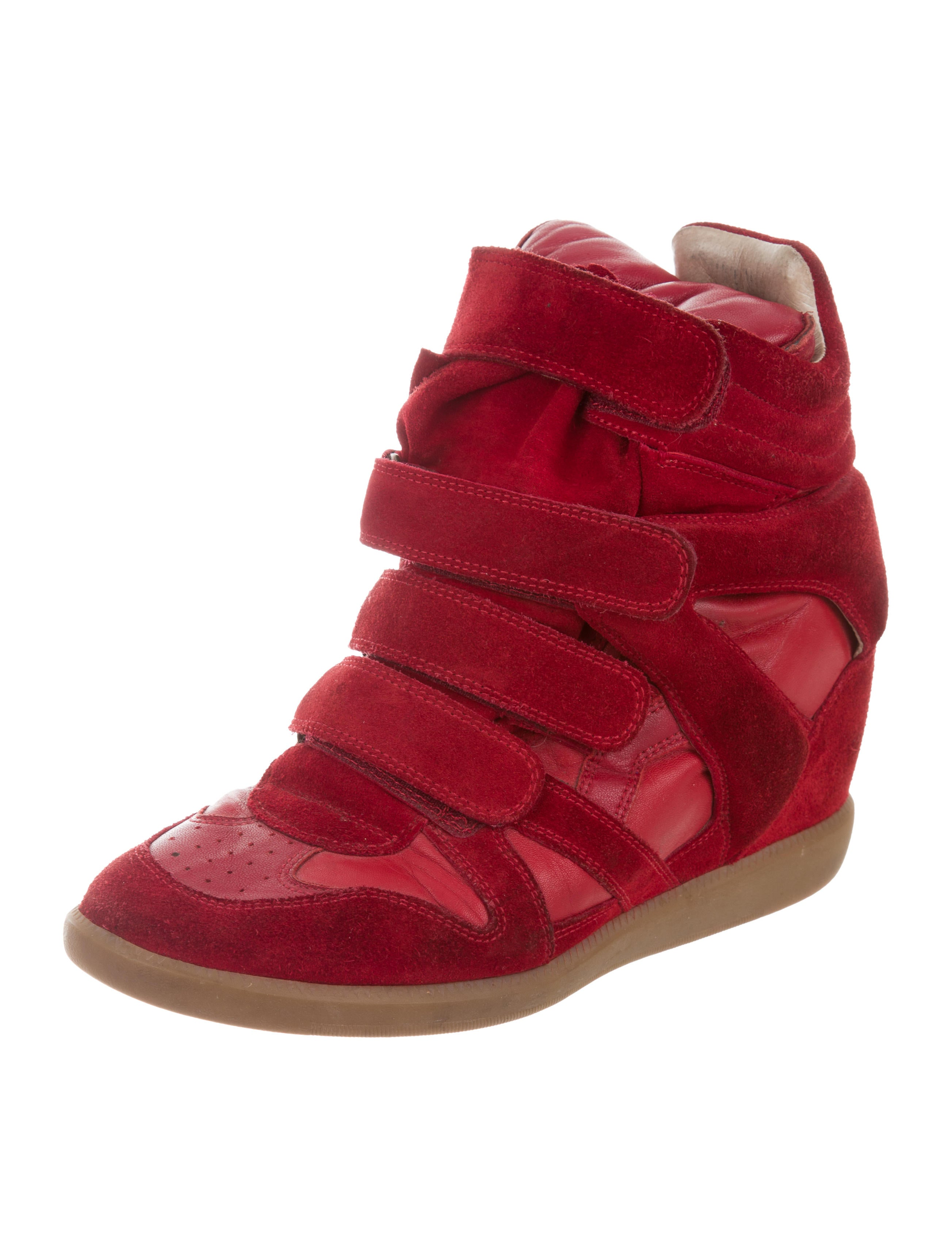 isabel marant beckett wedge sneakers shoes isa45529 the realreal. Black Bedroom Furniture Sets. Home Design Ideas