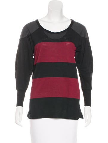Isabel Marant Jersey Long Sleeve Top None