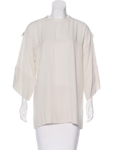 Isabel Marant Woven Long Sleeve Top None
