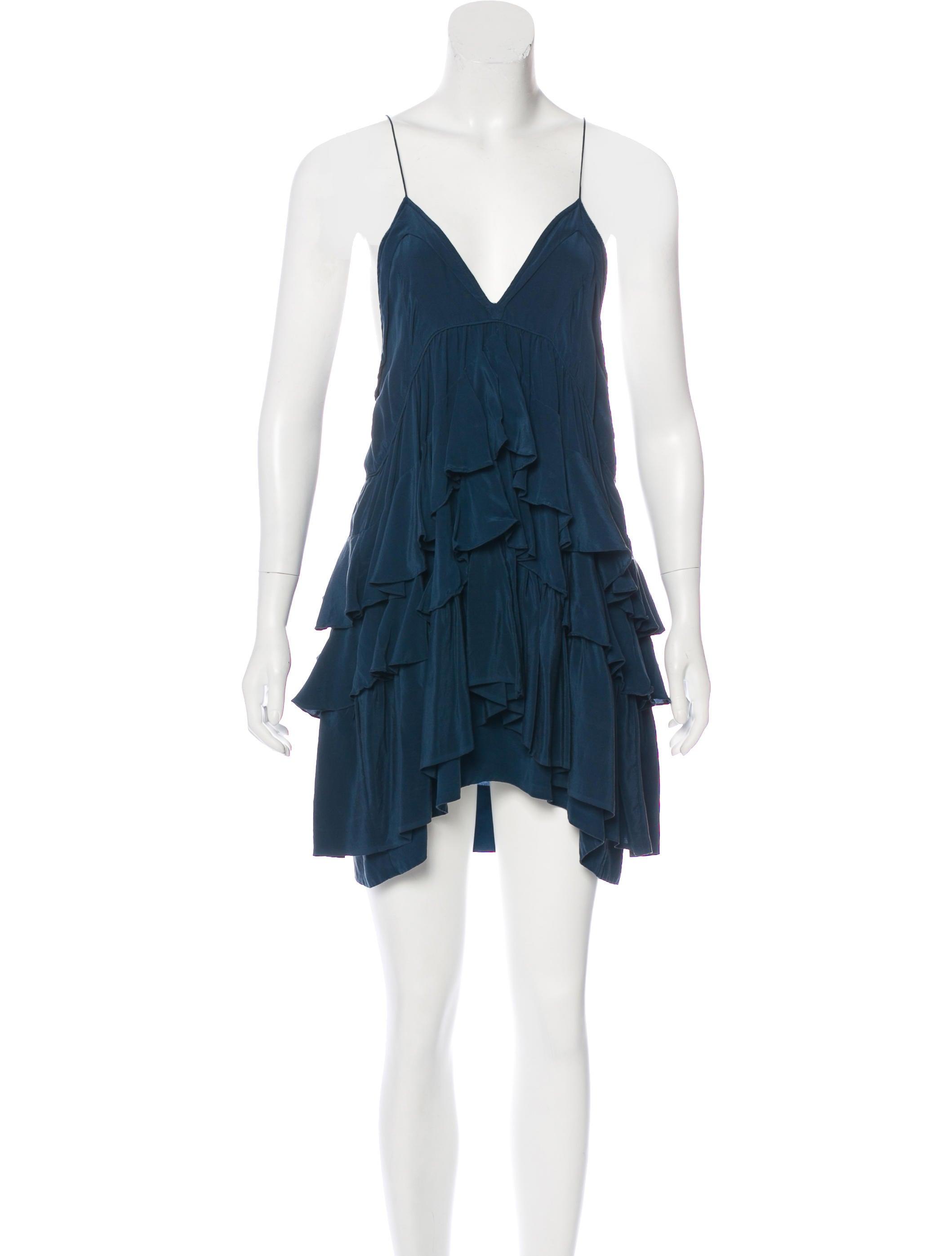 Isabel marant silk ruffled dress clothing isa45722 for Isabel marant shirt dress