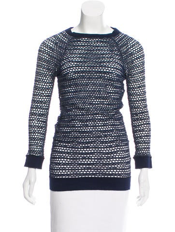 Isabel Marant Open Knit Long Sleeve Sweater None