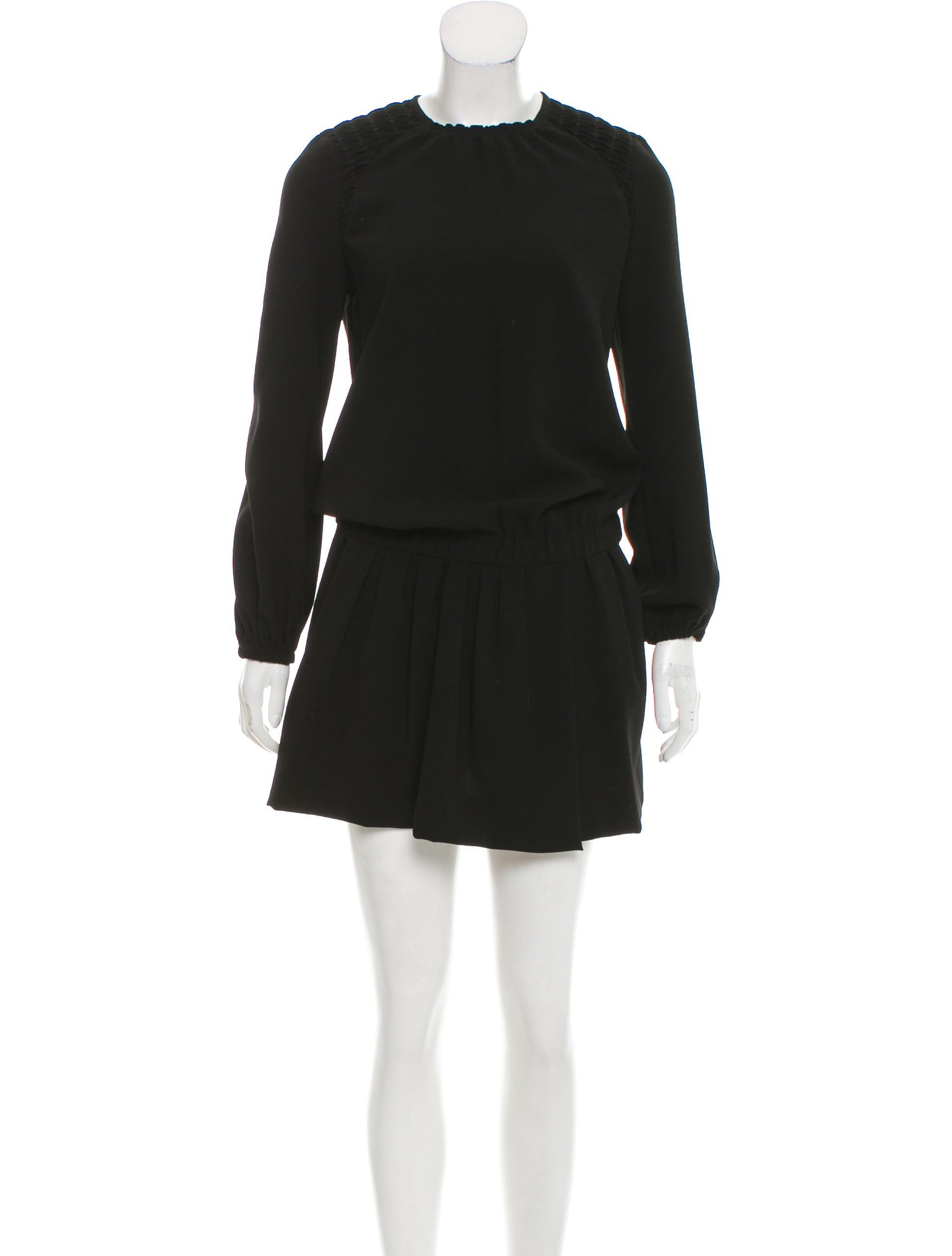 Isabel marant long sleeve mini dress clothing isa45831 for Isabel marant shirt dress