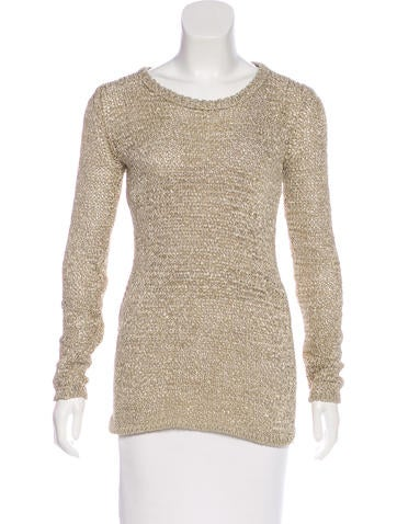 Isabel Marant Silk-Blend Open Knit Sweater None