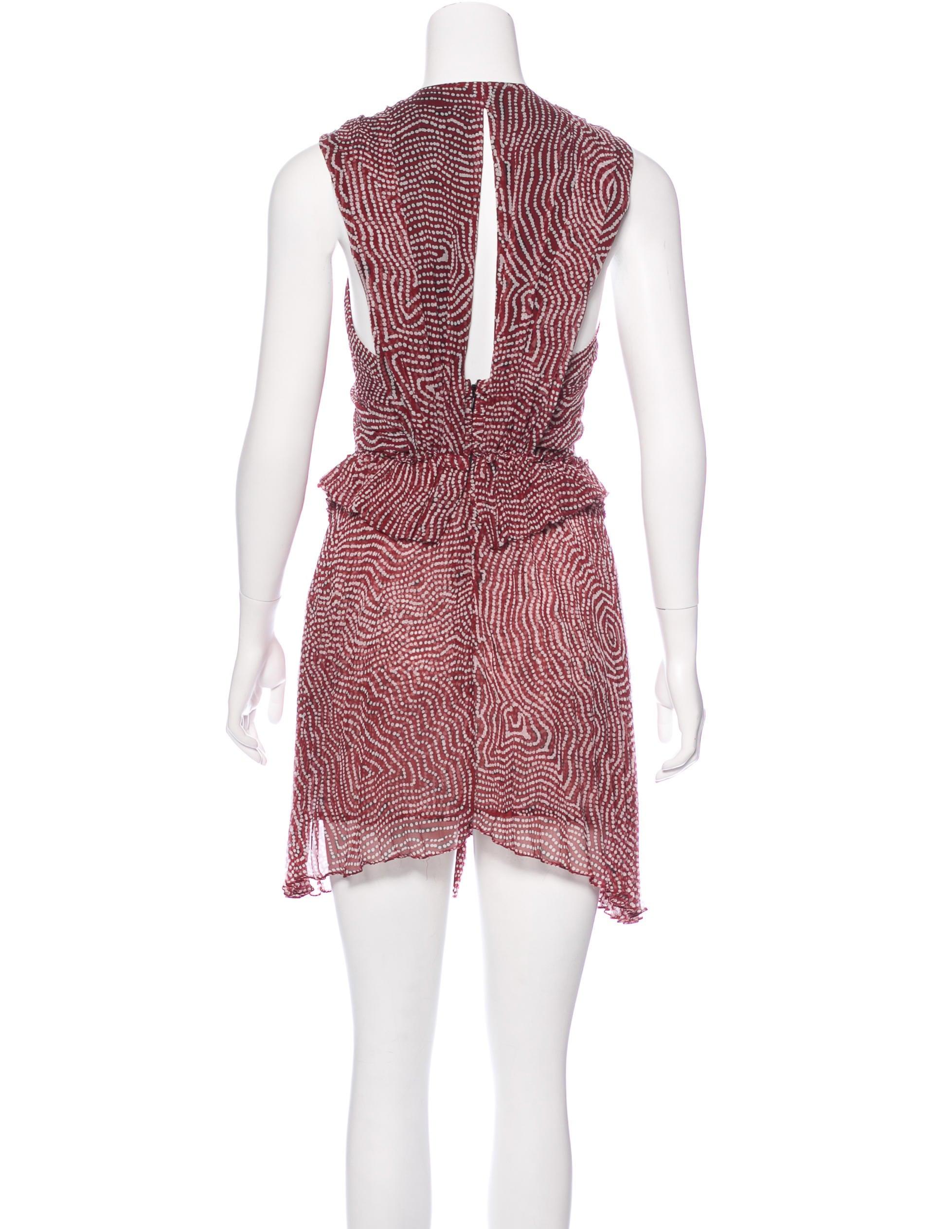 Isabel marant silk mini dress clothing isa45881 the for Isabel marant shirt dress