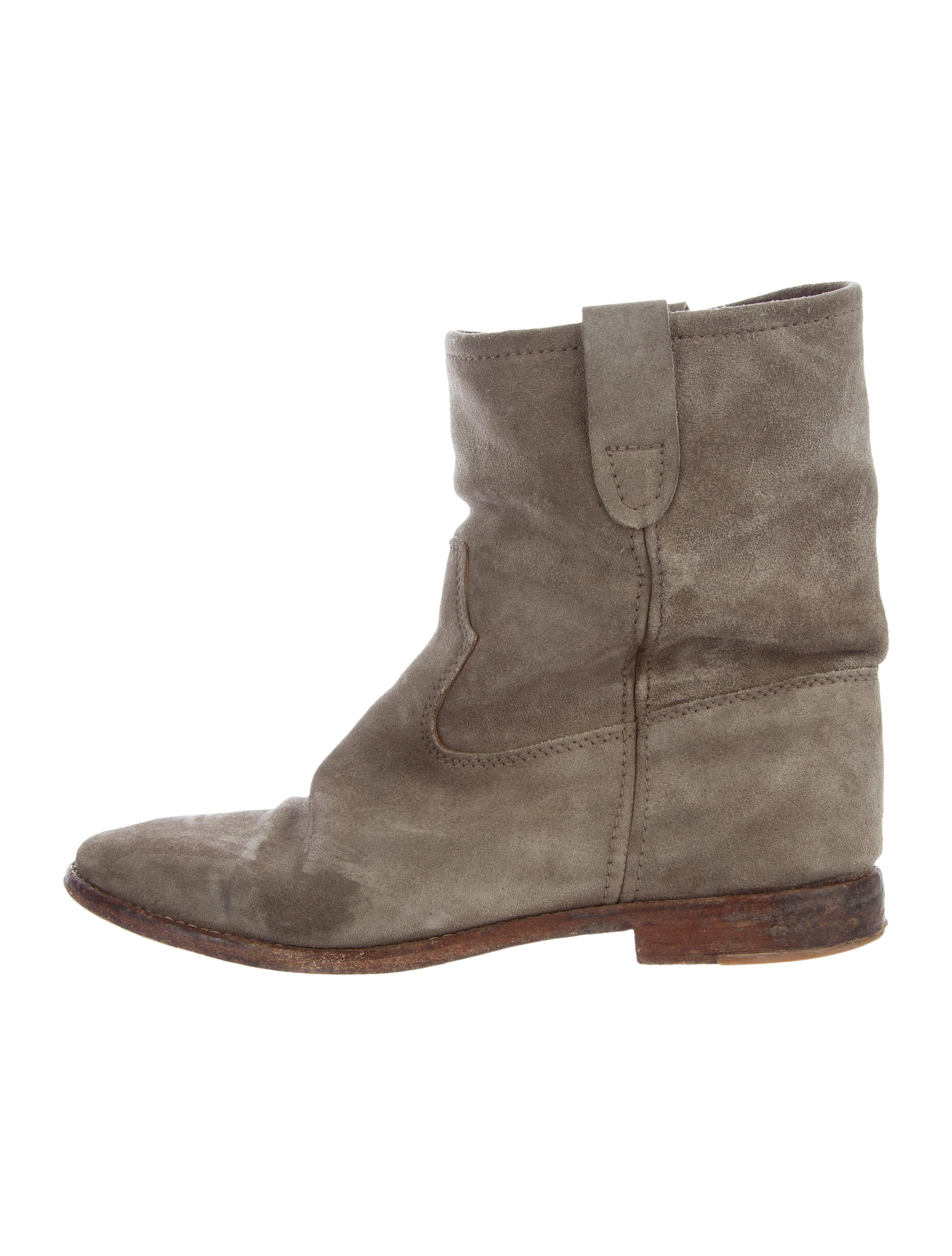 isabel marant suede round toe ankle boots shoes isa45939 the realreal. Black Bedroom Furniture Sets. Home Design Ideas