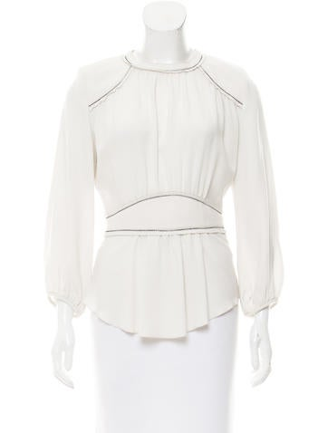 Isabel Marant Structured Long Sleeve Top None