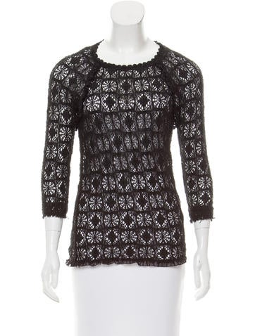 Isabel Marant Crochet Long Sleeve Top None