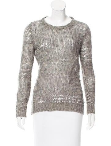 Isabel Marant Linen Open Knit Sweater None