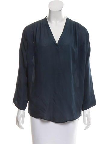 Isabel Marant Silk Long Sleeve Blouse None