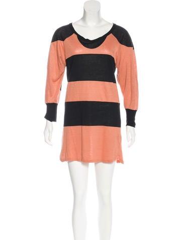 Isabel Marant Linen Striped Dress None