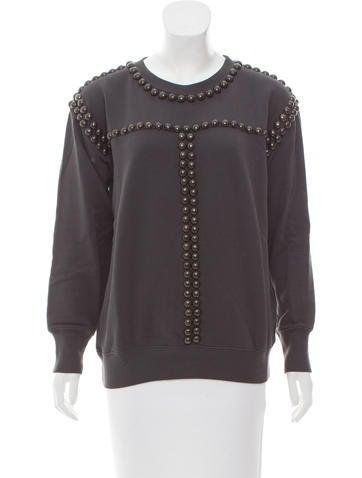 Isabel Marant Studded Crew Neck Sweatshirt None