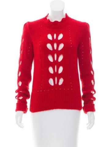 Isabel Marant Cutout Mock Neck Sweater None