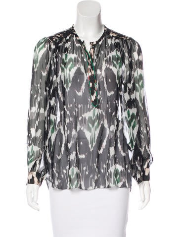 Isabel Marant Silk Long Sleeve Top None