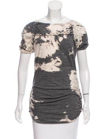 Isabel Marant Braid-Accented Tie Dye Top None