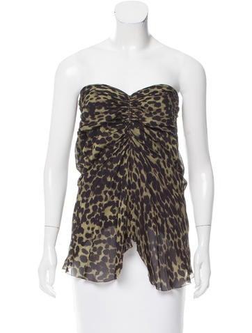 Isabel Marant Cheetah Print Draped Top None