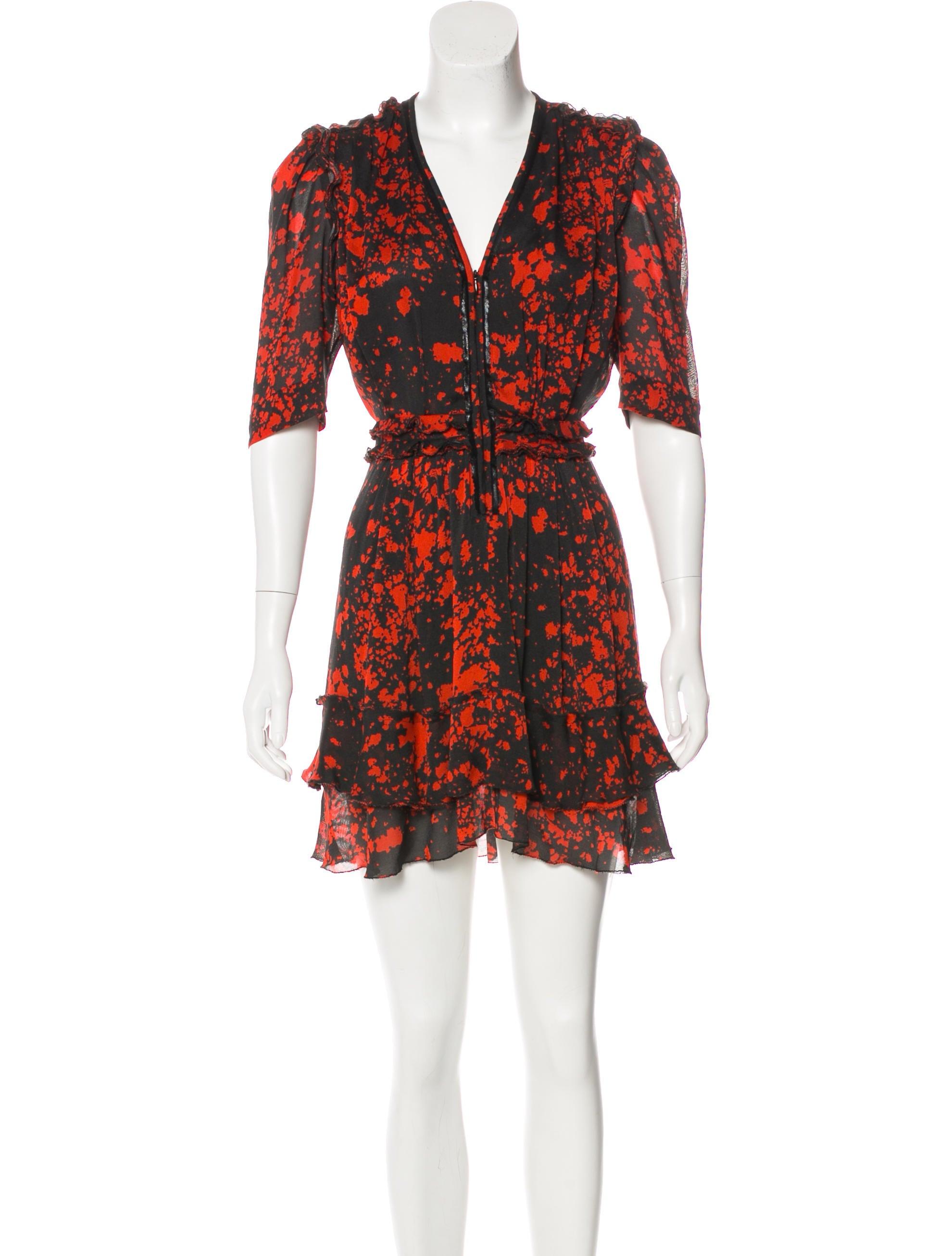 Isabel marant silk leather trimmed dress clothing for Isabel marant shirt dress