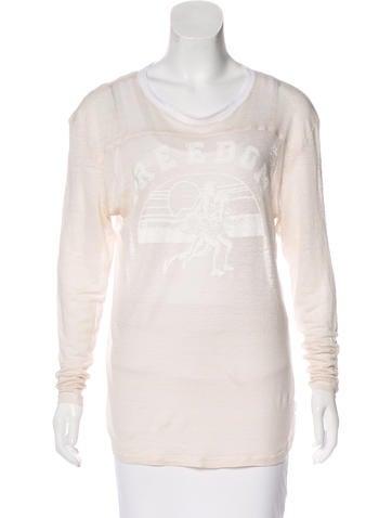 Isabel Marant Linen Long Sleeve Top None