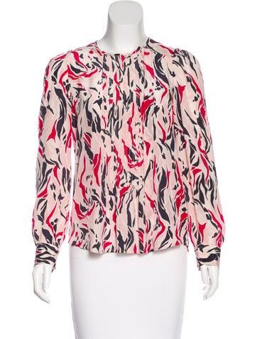 Isabel Marant Printed Silk Blouse None