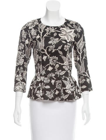 Isabel Marant Floral Silk Top None