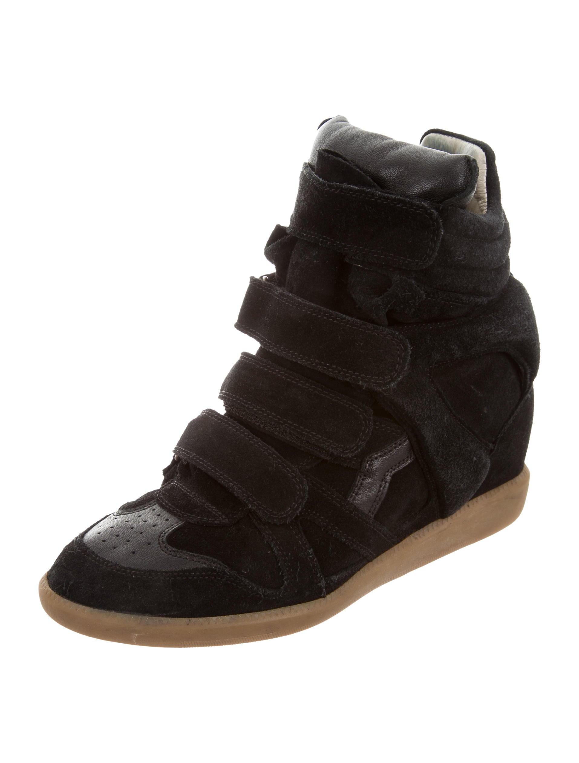isabel marant beckett wedge sneakers shoes isa47500 the realreal. Black Bedroom Furniture Sets. Home Design Ideas