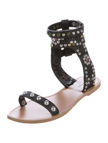 Isabel Marant Elvis Embellished Leather Sandals buy cheap outlet locations clearance sneakernews buy cheap tumblr free shipping low price fee shipping cheap enjoy 25OE4