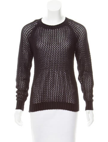 Isabel Marant Open-Knit Long Sleeve Top None