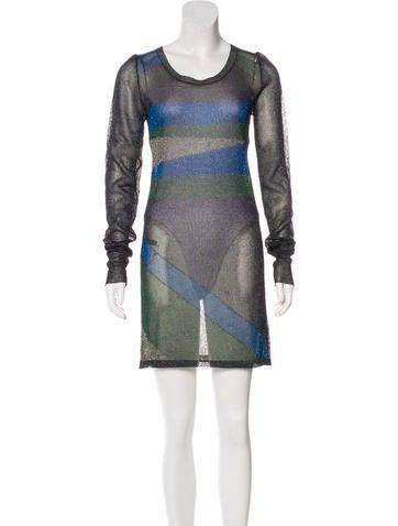 Isabel Marant Metallic Knit Dress None