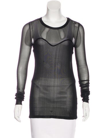 Isabel Marant Mesh Long Sleeve Top None