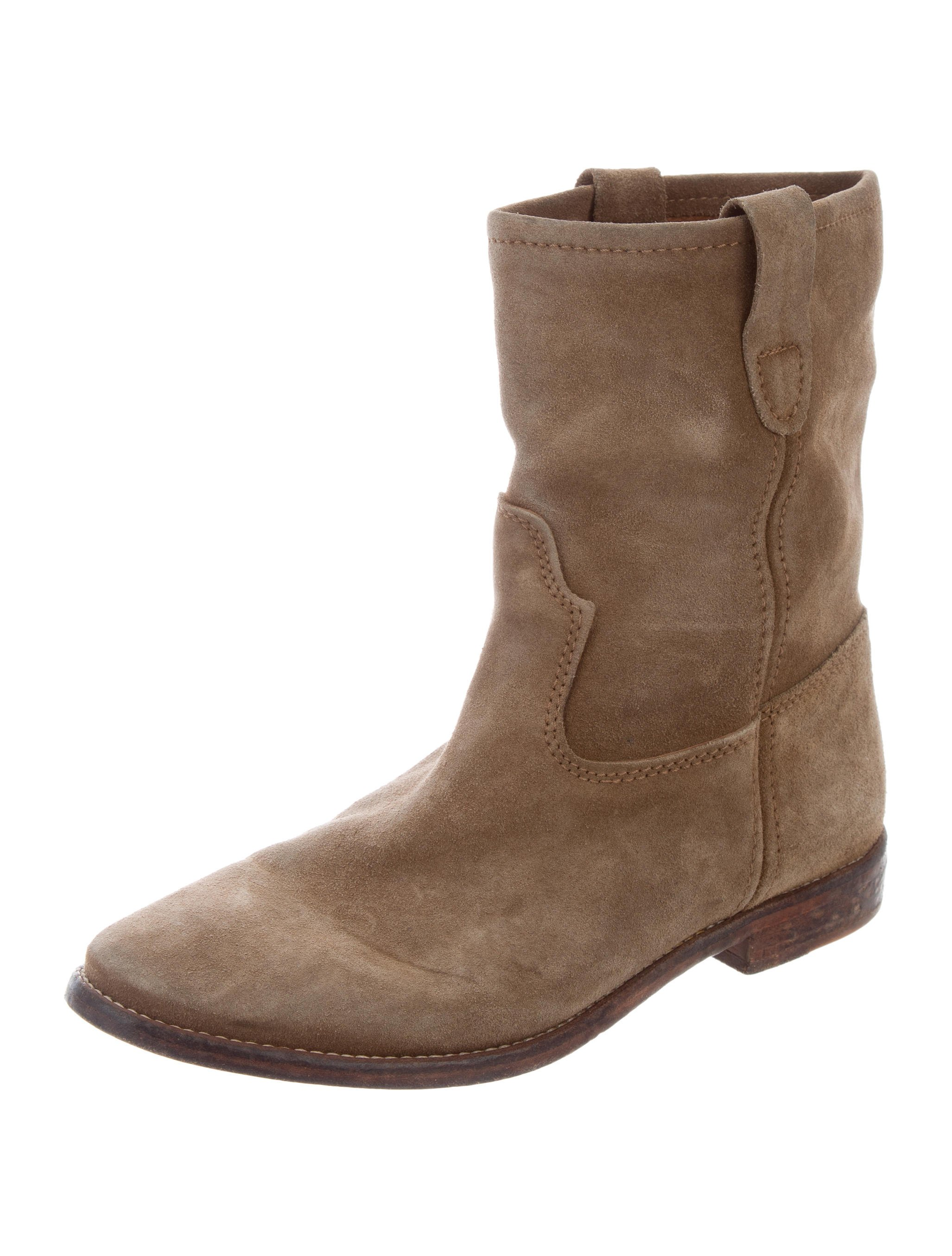 isabel marant suede jenny ankle boots shoes isa48047 the realreal. Black Bedroom Furniture Sets. Home Design Ideas
