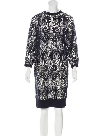 Isabel Marant Crochet Sweater Dress None