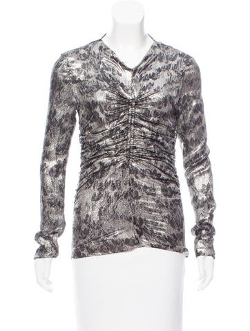 Isabel Marant Metallic Ruched Top None