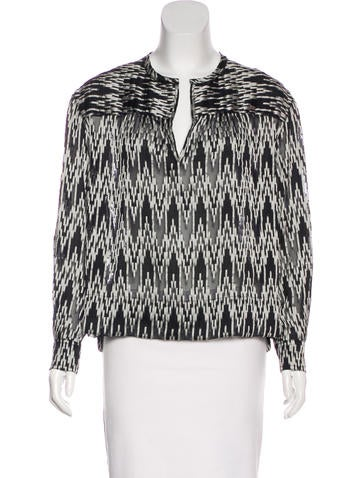 Isabel Marant Long Sleeve Patterned Blouse None