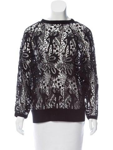 Isabel Marant Lace Long Sleeve Sweatshirt None