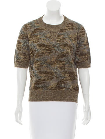 Isabel Marant Metallic Camouflage Top None