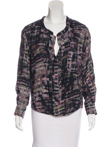 Isabel Marant Silk Abstract Print Top None