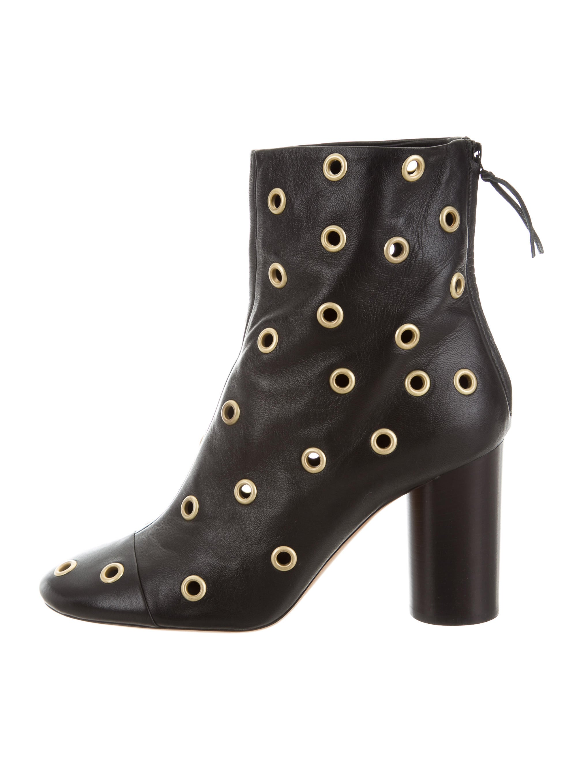 Isabel Marant Leather Grommet Ankle Boots free shipping new styles ecU1Xo