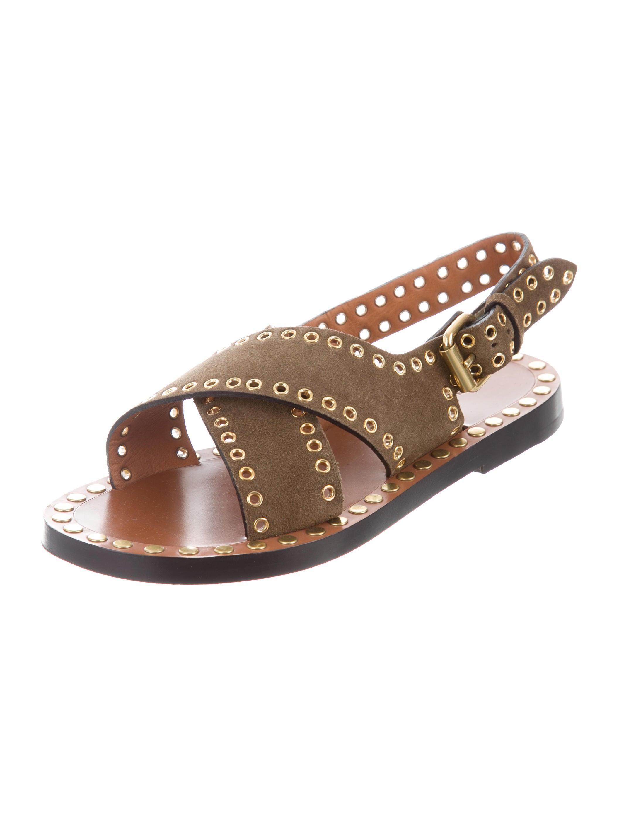 Isabel Marant Grommet-Embellished Crossover Sandals discount how much exclusive cheap online deals cheap online wholesale online VU8zhBFewc