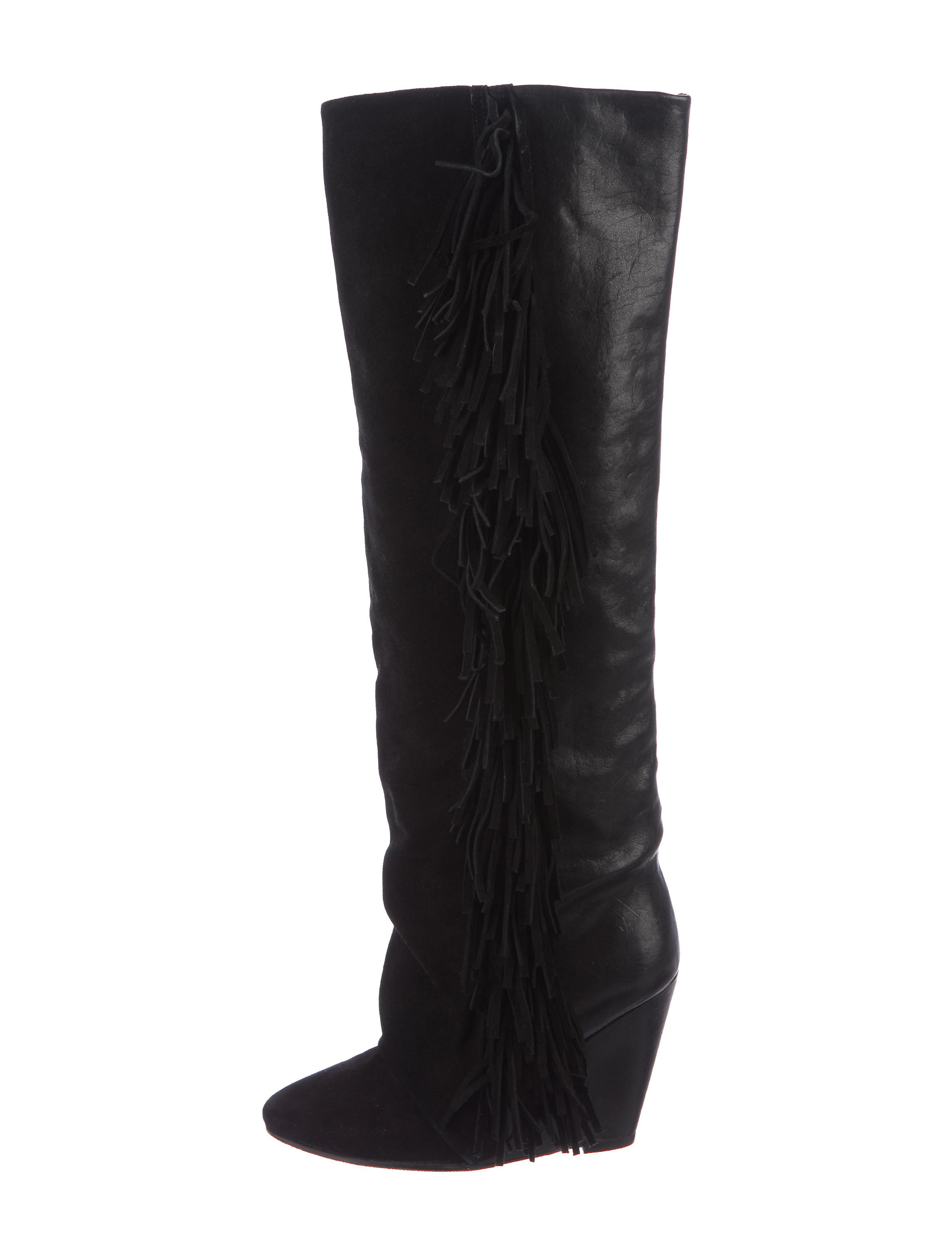 Isabel Marant Suede Fringe Knee-High Boots many kinds of online outlet discount wiki free shipping 2014 newest wTPjrqZ