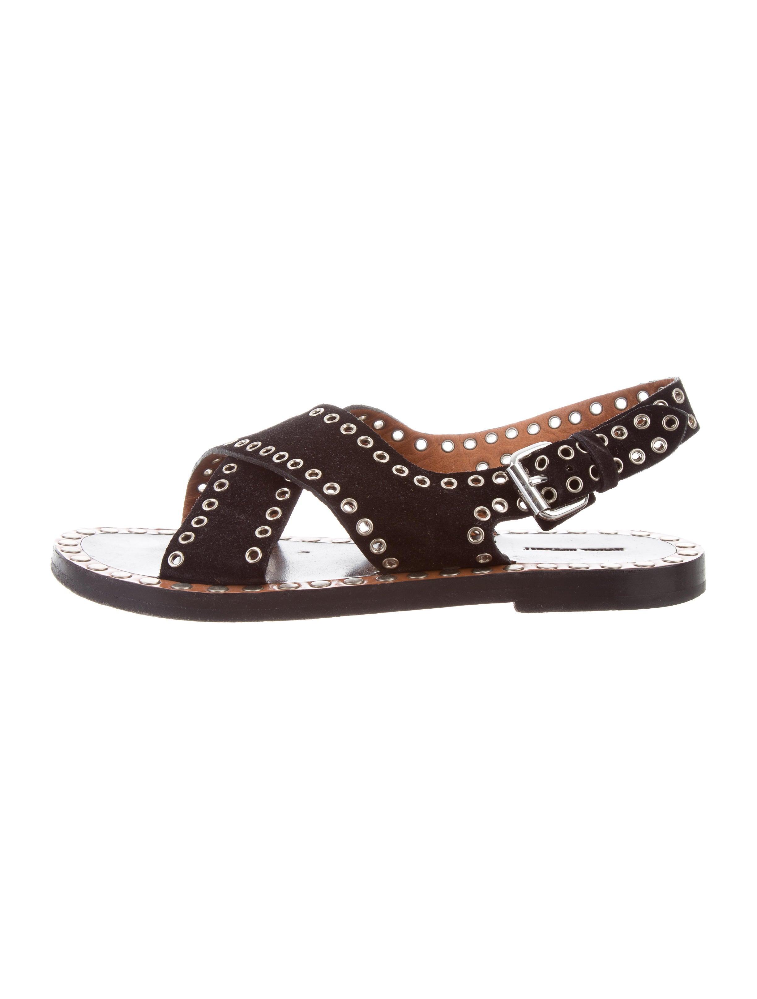 Isabel Marant Grommet Crossover Sandals cheap reliable sale sast clearance shop outlet big discount GZCbxRd9We