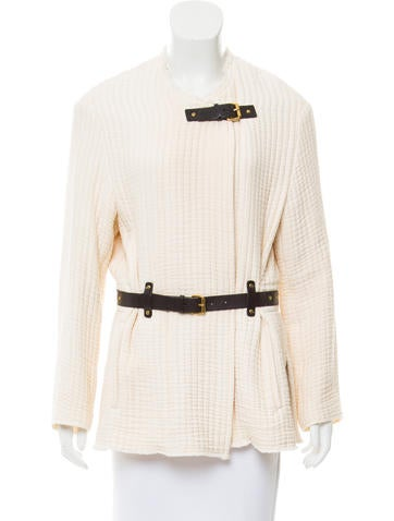 Isabel Marant Leather-Accented Ribbed Jacket None