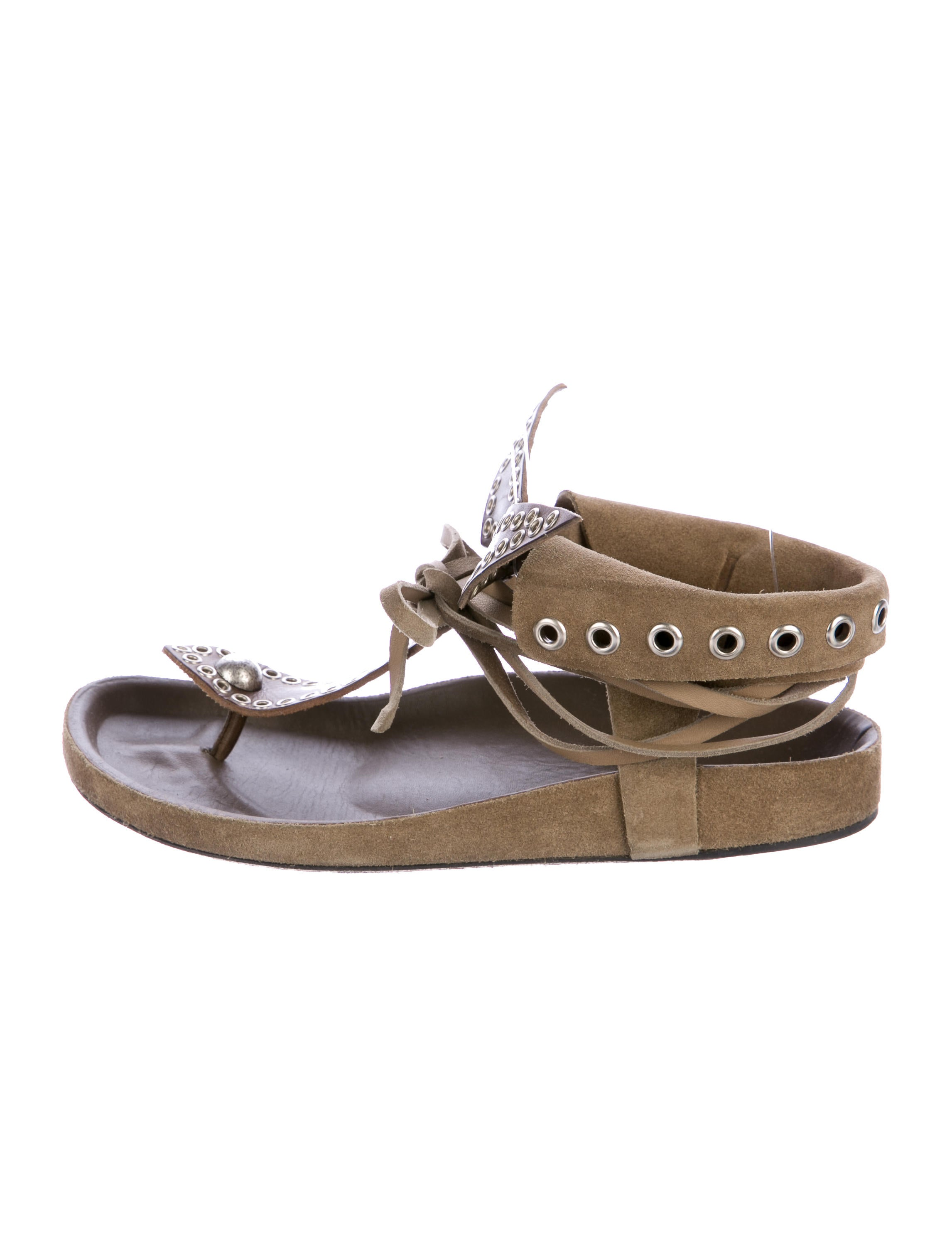 Isabel Marant Edris Grommet Sandals new sale online cheap sale hot sale clearance websites cheap factory outlet NFYARO