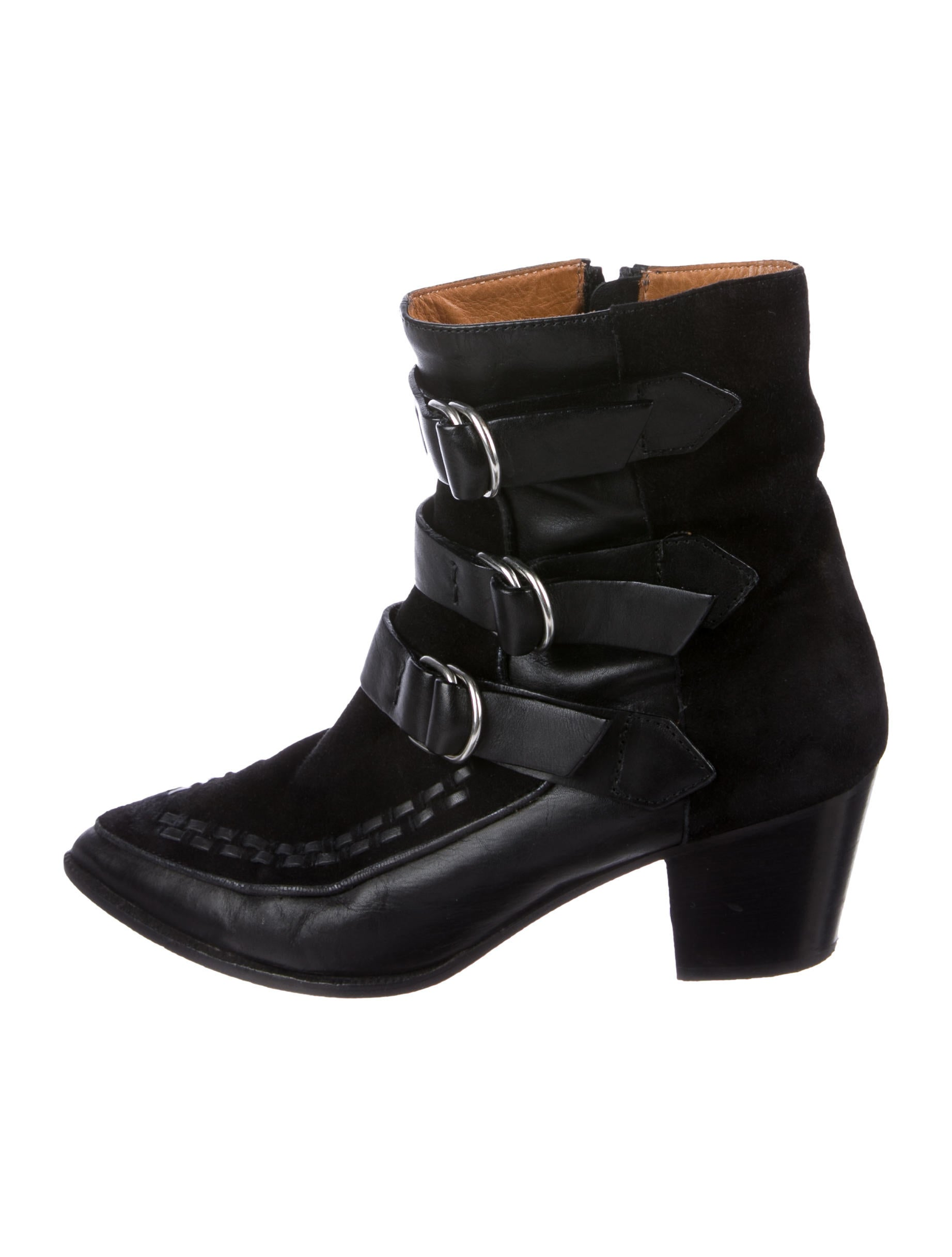 Isabel Marant Leather Pointed-Toe Boots footlocker online g3K8TW96D