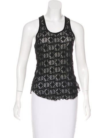 Isabel Marant Sleeveless Open Knit Top None