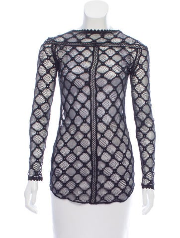 Isabel Marant Long Sleeve Lace Top None