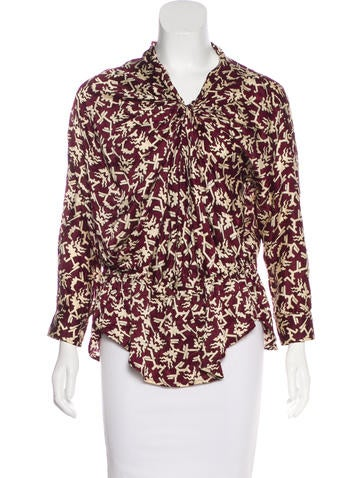 Isabel Marant Printed long Sleeve Blouse None