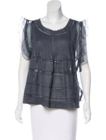 Sleeveless Eyelet-Trimmed Top w/ Tags