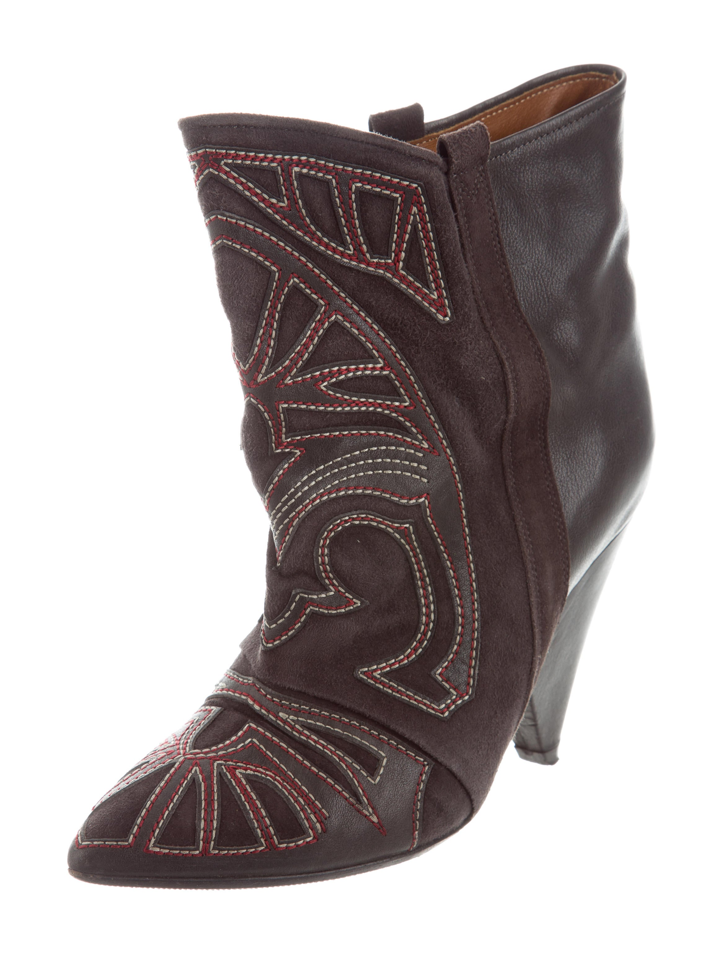 clearance cheap Isabel Marant Berry Pointed-Toe Ankle Boots discount fake shopping online clearance oLYly4I