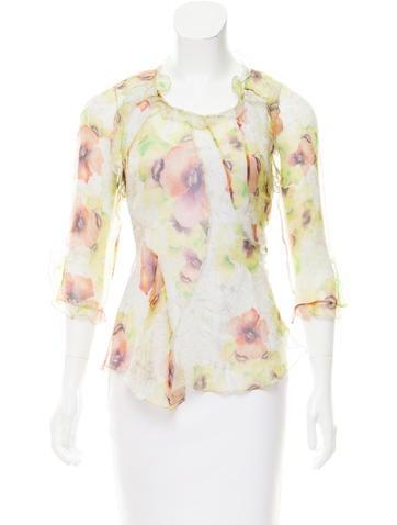 Isabel Marant Silk Floral Print Top None