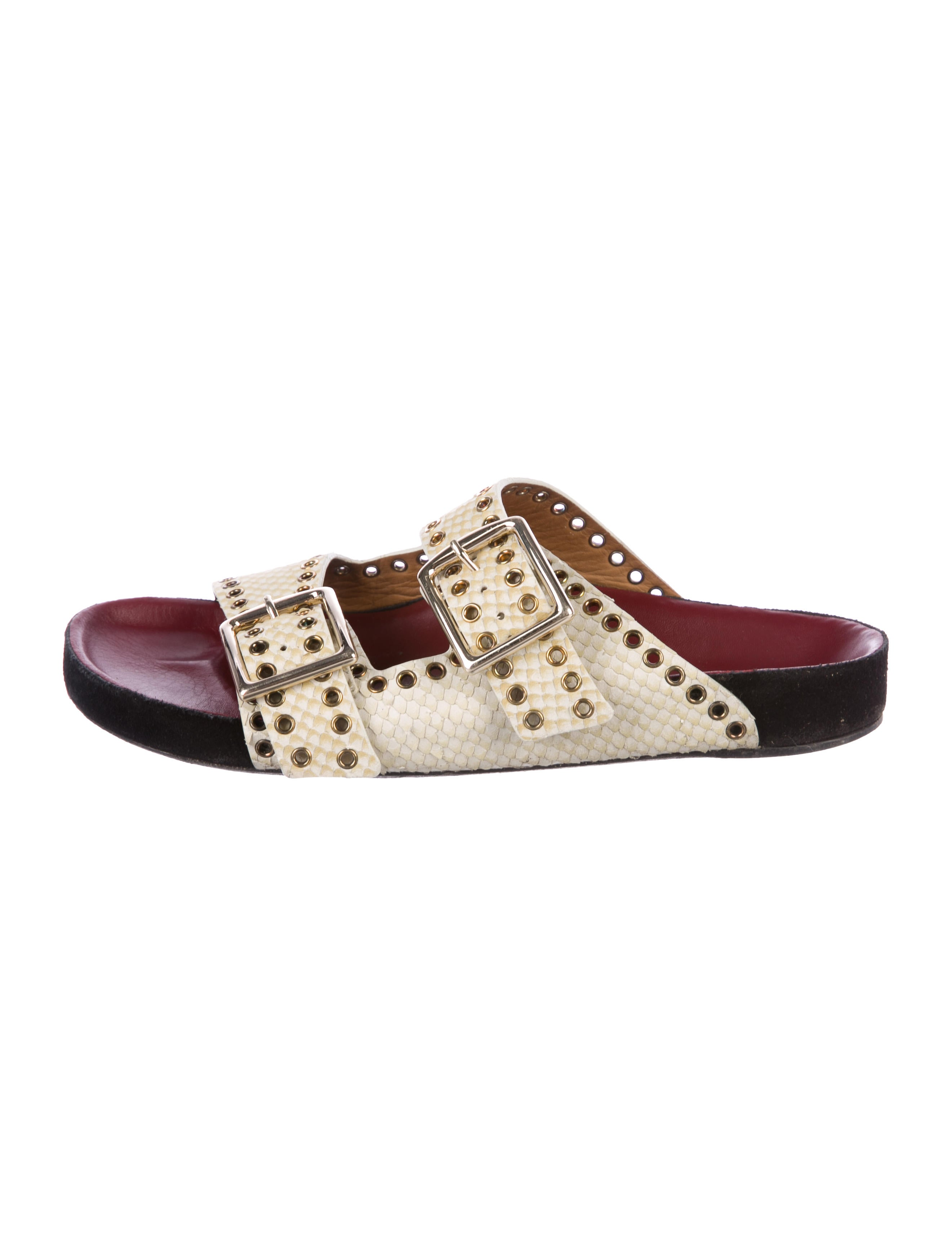 deals for sale clearance 2014 new Isabel Marant Embossed Lenny Sandals low price fee shipping cheap online pUQzosREOV